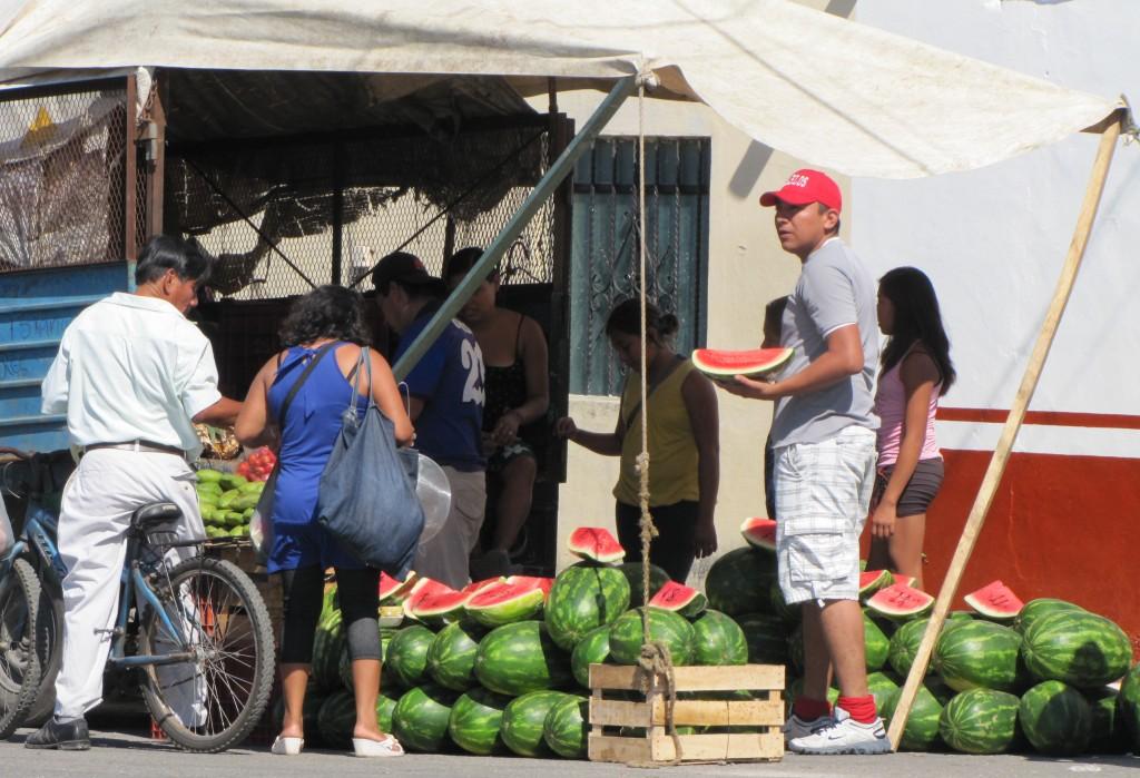 Flea market melons