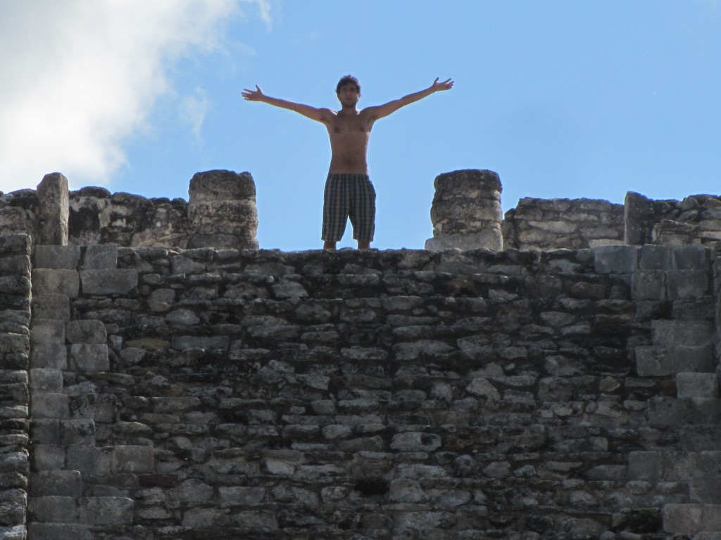 King of the castle surveys the kingdom
