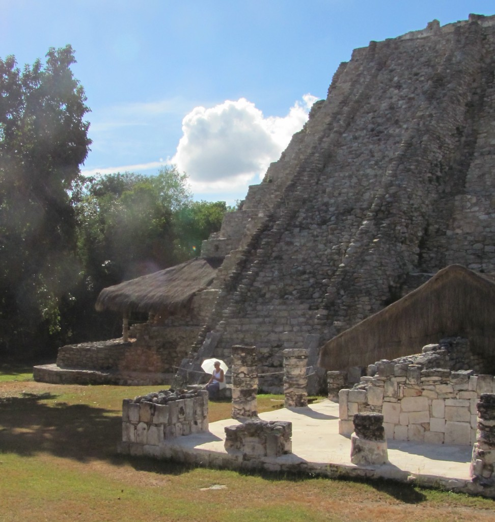 Winter solstice afternoon at Mayapan, Yucatan