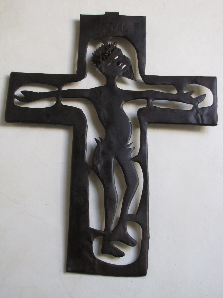 Metal sculpture from Haiti, artist unknown. ~2009, or prior.